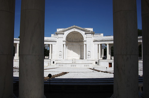 Looking east through colonnade at apse - Memorial Amphitheater - Arlington National Cemetery - 2012-05-19