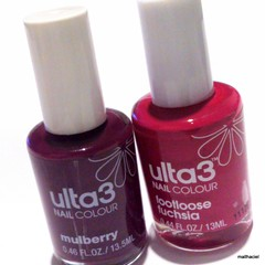 ulta 3 nail colour - mulberry and footloose fuchsia