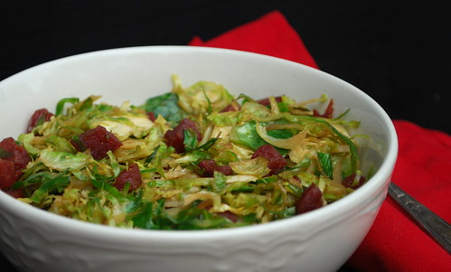 Brussel Sprouts with Chinese Sausage2