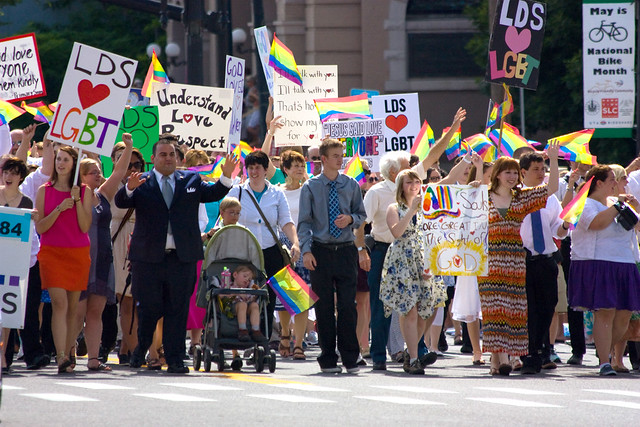 Mormons Building Bridges march in Utah Pride Parade
