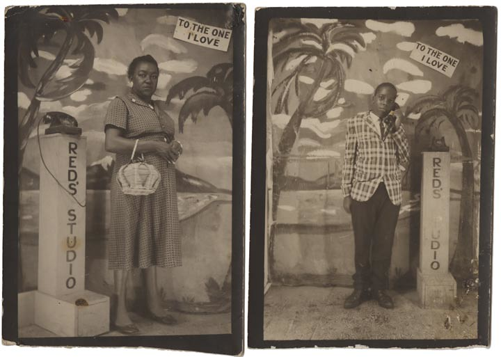 Souvenir Photographs from Red's Studio - Black Woman and Young Man
