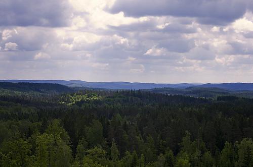 sky sun clouds landscape view forrest sweden sverige hindås härryda pentaxk5 pentaxda55mm114sdm