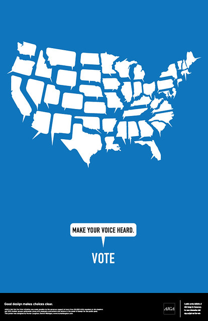 AIGA Get Out the Vote Poster (Blue)
