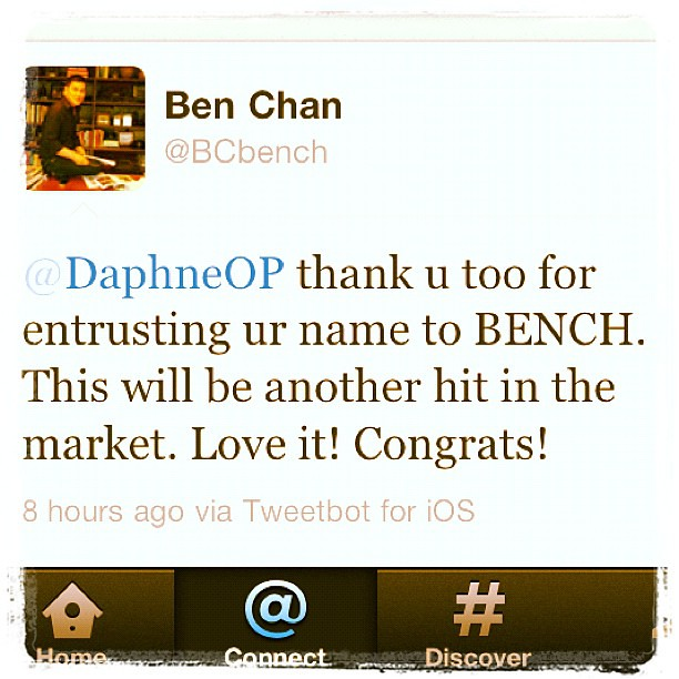 You know it's not a regular day when you wake up to a tweet from @BCBench @benchtm. Still in awe.