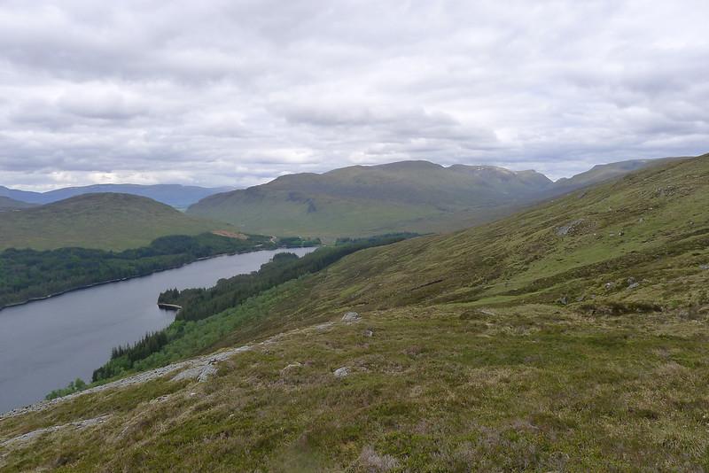 Aonach Beag ridge beyond Loch Ossian