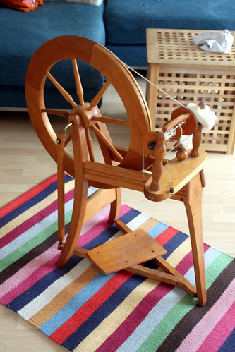i have a new spinning wheel!