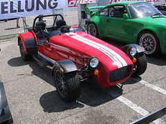 convertible(0.0), race car(1.0), automobile(1.0), lotus seven(1.0), vehicle(1.0), performance car(1.0), automotive design(1.0), caterham 7 csr(1.0), caterham 7(1.0), antique car(1.0), vintage car(1.0), land vehicle(1.0), sports car(1.0),
