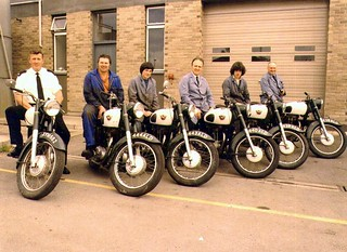 Northern Constabulary Matchless motorcycles 1980