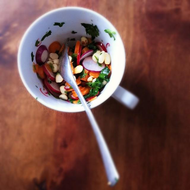 Quick Market Salad: Carrot, Radish and Peanut ...