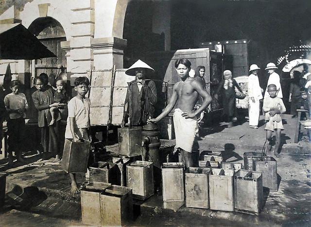 Saigon vers 1930 - Marché de Go Vap