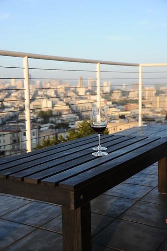 家でワイン