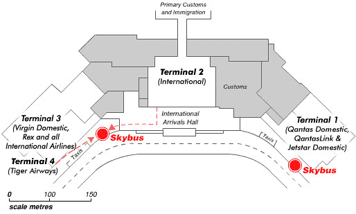 Airport-terminals-map