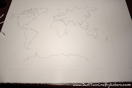 creating a watercolor world map