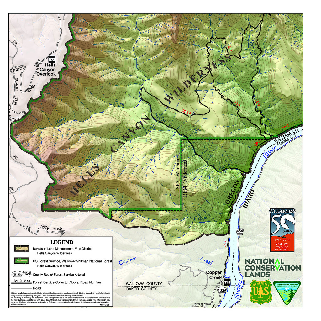 Hells Canyon Wilderness Map The United States Congress Des Flickr