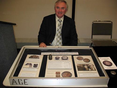 David Sundman with Carson City Die exhibit