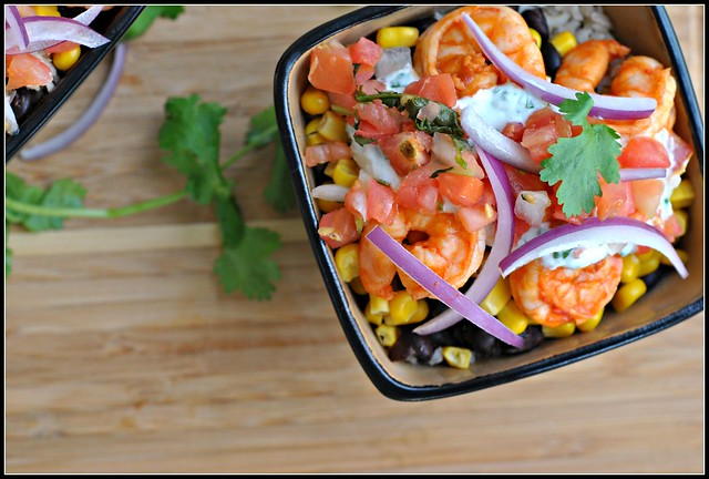 Chipotle Shrimp Bowls with Cilantro-Lime Cream Sauce 2