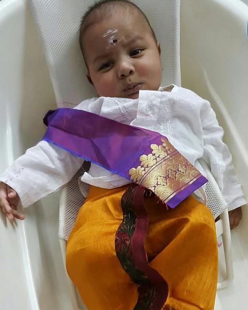 My Gujarati kid giving Angry south Indian pose! #cute #fashionkids #babyfashion #babyboy #kid #kids #fashion #india #kerala