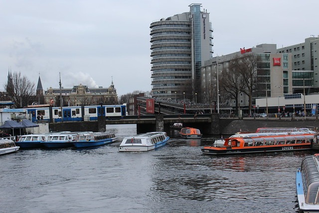Sightseeing boats near Central Station