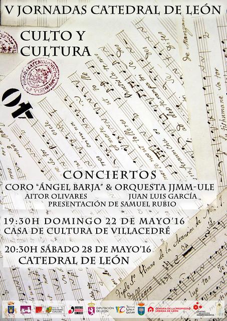 V JORNADAS CATEDRAL DE LEÓN - CULTO Y CULTURA - SOFCAPLE - CONCIERTOS EN VILLACEDRÉ Y EN LA CATEDRAL DE LEÓN