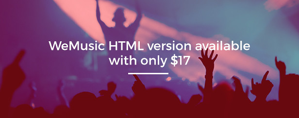 WeMusic Music Band Event HTML Template