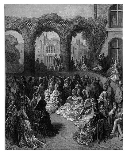 016-Holland House una fiesta en el jardin-London A Pilgrimage 1890- Blanchard Jerrold y Gustave Doré- © Tufts Digital Library