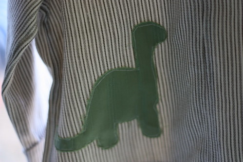 Easy Linen Shirt--Dino Applique