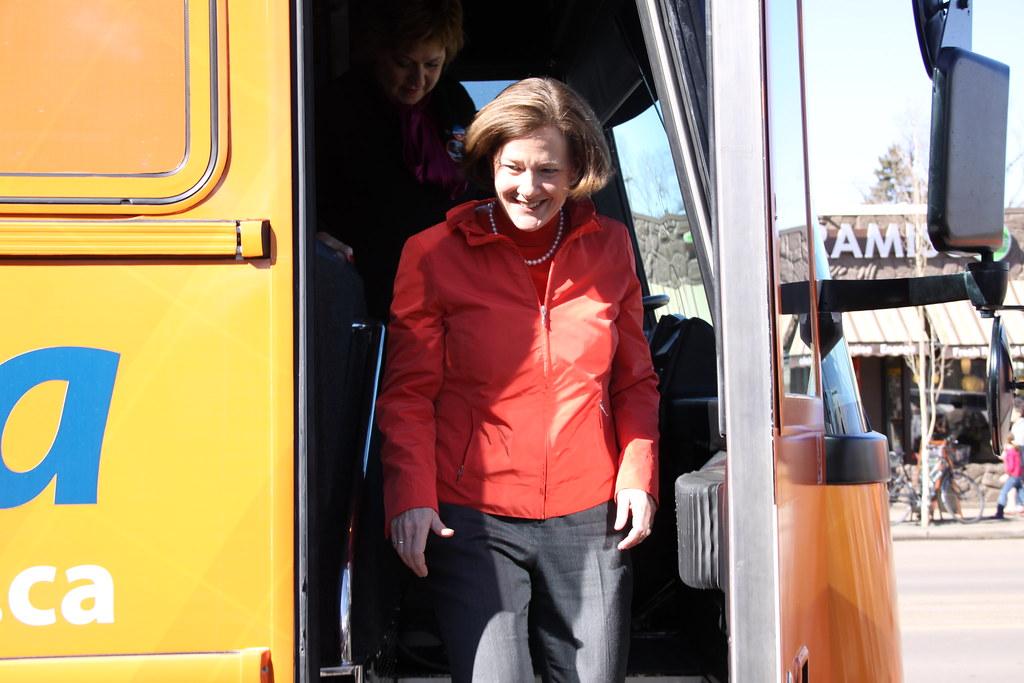 Premier Alison Redford campaign election Edmonton 2012
