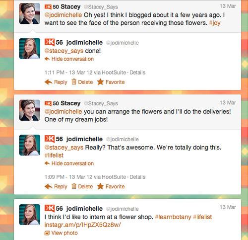 twitter conversation, the beginning