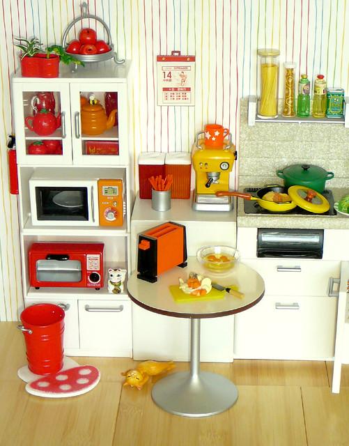 Re Ment Rainbow Kitchen Red Orange Yellow Flickr
