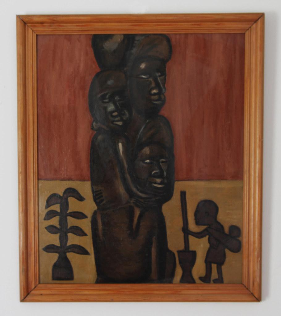 Mekonde Figure - plaque