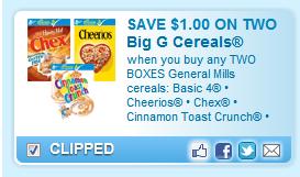 General Mills Divisional Cereal Coupon