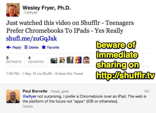 Beware of immediate sharing on Shuffler.tv