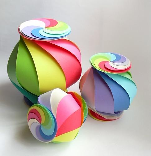 Triple rainbow globes