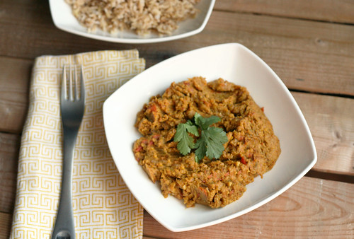 Baingan Bharta (Roasted Eggplant Curry) - Gluten-free + Vegan