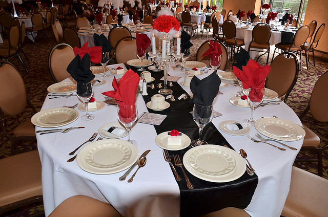 7036590319 f3ef7e9962 for Black and white reception tables
