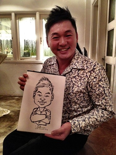 Caricature live sketching for Diageo Singapore Pte Ltd - 17