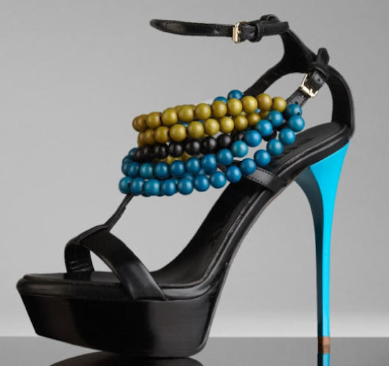 SS2012 beaded Burberry shoes