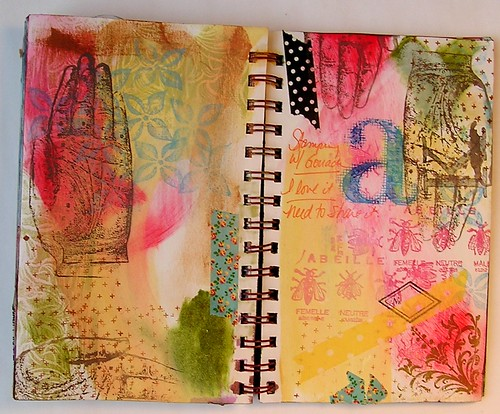 Art Journaling, gouache
