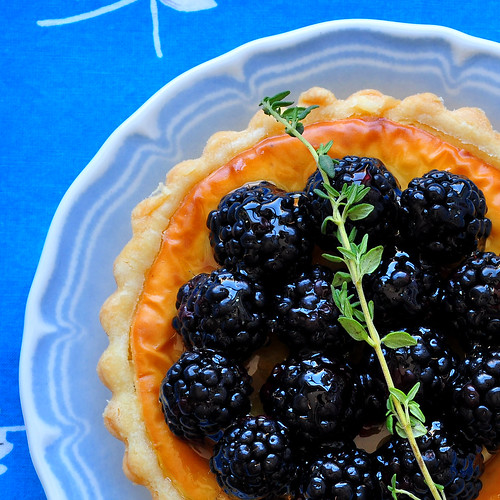 Goat Cheese and Blackberry Tart Crop