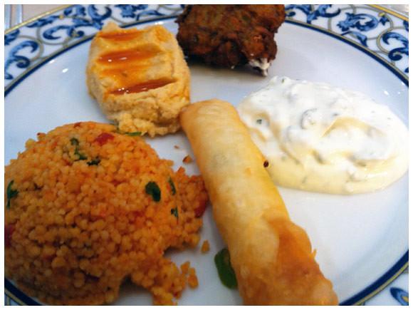 Mixed appetizers, Mediterranean Grill - Plainpalais, Geneva