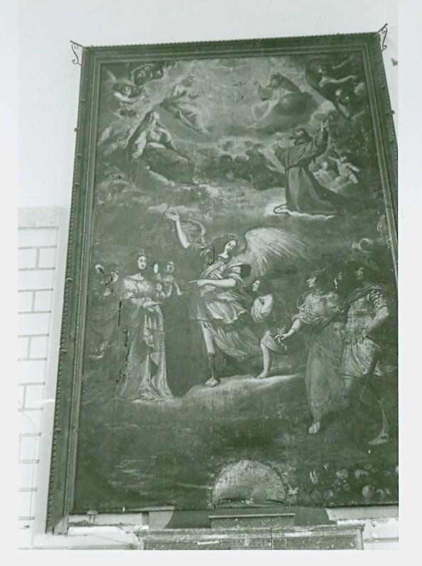 Lienzo de Fernando Carducho en la Ermita del Cigarral del Ángel Custodio en Toledo a mediados del siglo XX