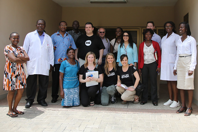 The #ONEDad & #ONEMoms Team in Ghana at Princess Marie Louise Hospital