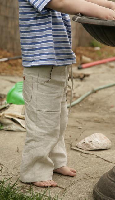 Sandbox pants.