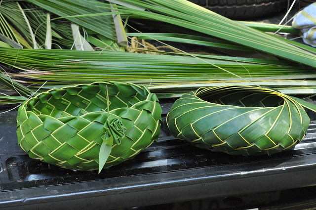 palm frond baskets