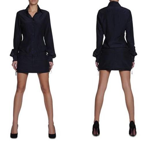 vestido-corto-Bikkembergs-azul