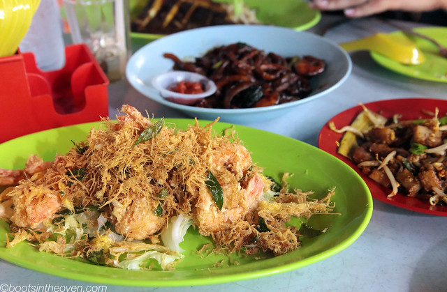 Butter-Baked Prawn and hokkien mee