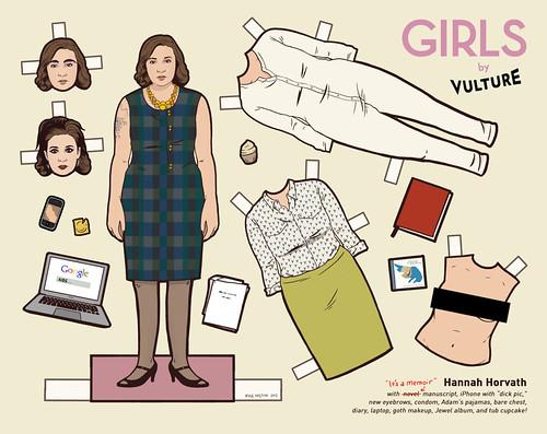 Hanna paper doll
