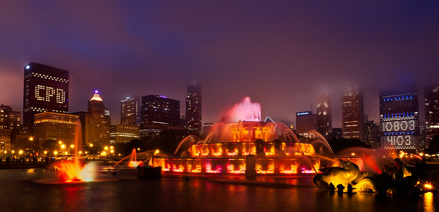 Chicago Police Department Memorial at Buckingham Fountain