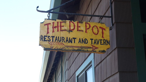 Sign at THE DEPOT, in Oneonta, NY by JuneNY