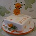 Orange Gerbera Birthday Cake